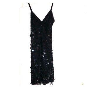 Little black beaded dress